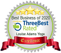 Logo for the Three Best Rated - Best Business of 2020: Louise Admas Yoga