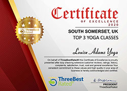 South Somerset Top 3 Yoga Classes Certificate