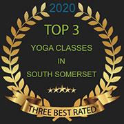 Logo for the Three Best Rated award - best yoga classes in South Somerset 2020